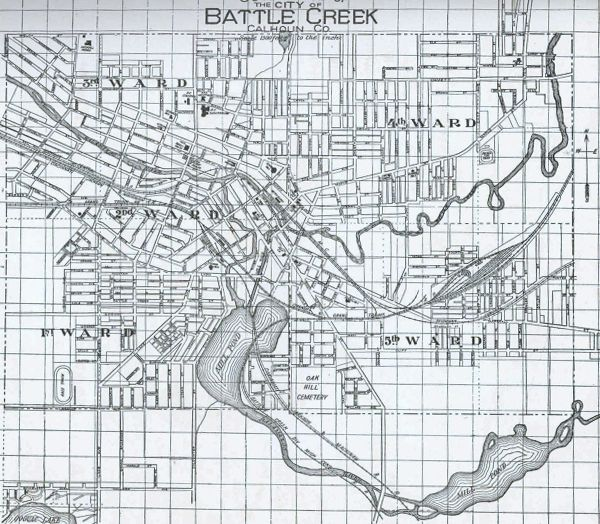 Battle Creek Railroad Map